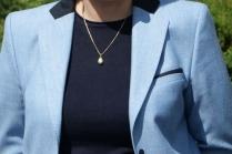 C чем носить женский синий пиджак