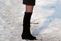 С чем носят ботфорты без каблука